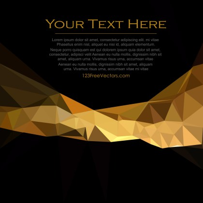 Free Cool Gold Polygon Pattern Background Vector Image