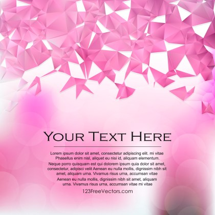 Free Abstract Pink and White Polygon Pattern Background Illustrator