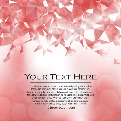 Free Abstract Red and White Polygonal Background Template Illustration