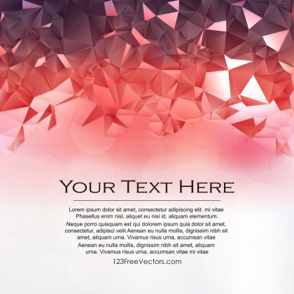 Free Abstract Red and White Polygon Triangle Background Design