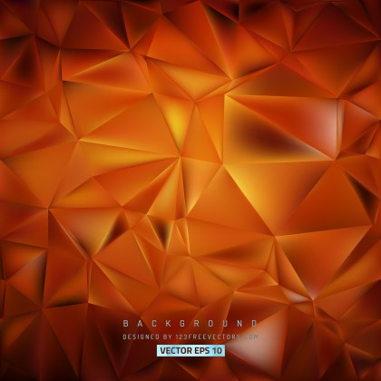 Free Red and Orange Polygonal Triangular Background Vector Image