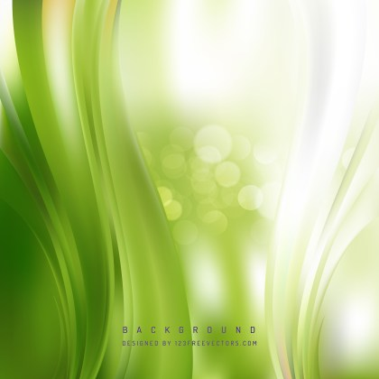 Free Abstract Green and White Vertical Wave Background Image