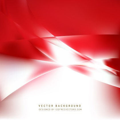 Free Red and White Wave Background Vector