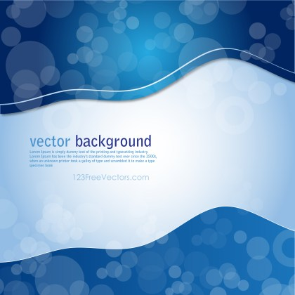Free Abstract Blue Background Graphic