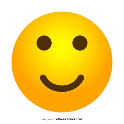 Slightly Smiley Face Emoji