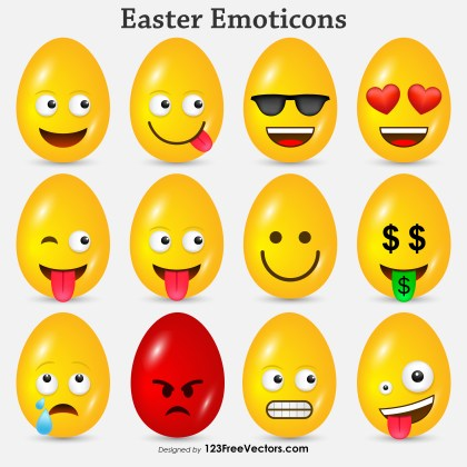 Easter Emoticons