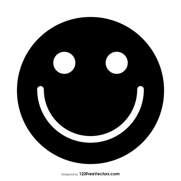 Black Smiley Face Symbol