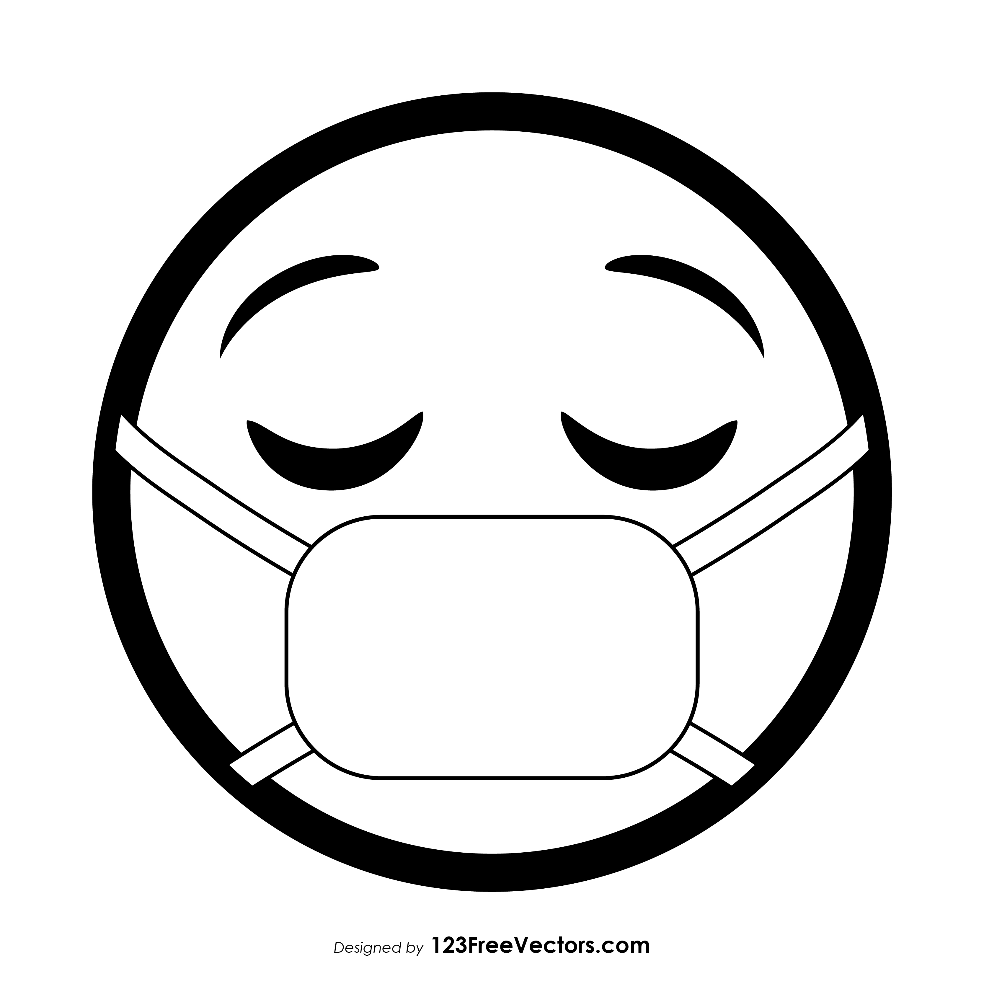 Face Mask Graphics Free Vector