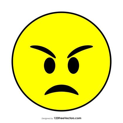 Angry Face Emoji Vector