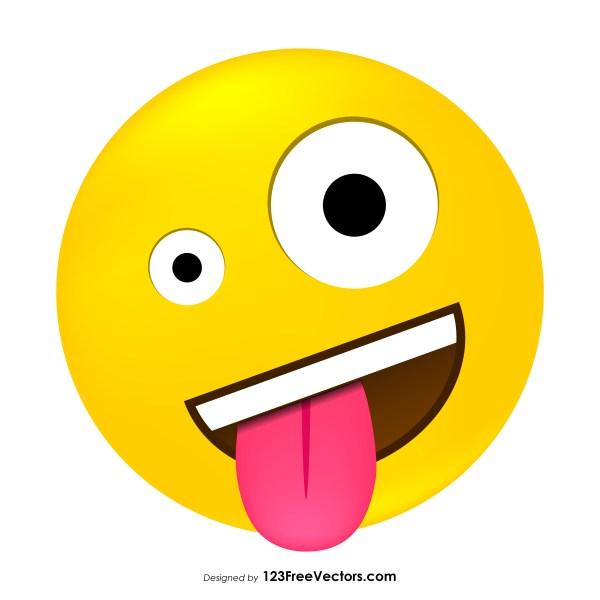 Crazy Emoticon Vector Download