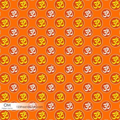 Hindu Om Symbol Pattern Background