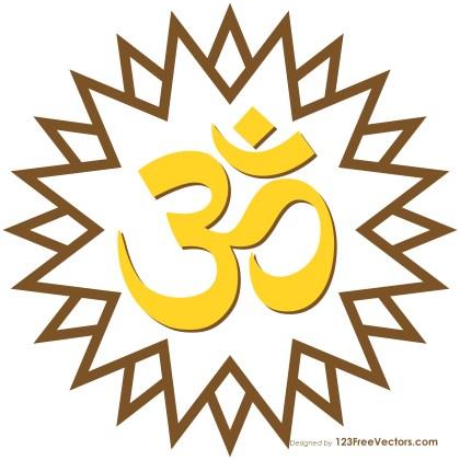 Aum Om Star Hindu Symbol Graphic