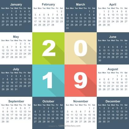 Free Calendar 2019