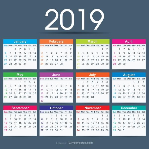 2019 Calendar Ai