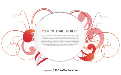 Floral Text Banner Design