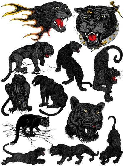 Black Panther Vector and Photoshop Brush Pack-01
