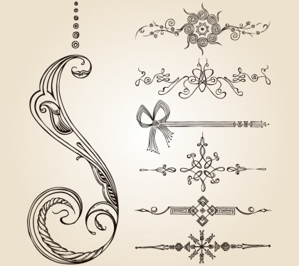 Calligraphic Design Elements Vector Photoshop Brushes 02
