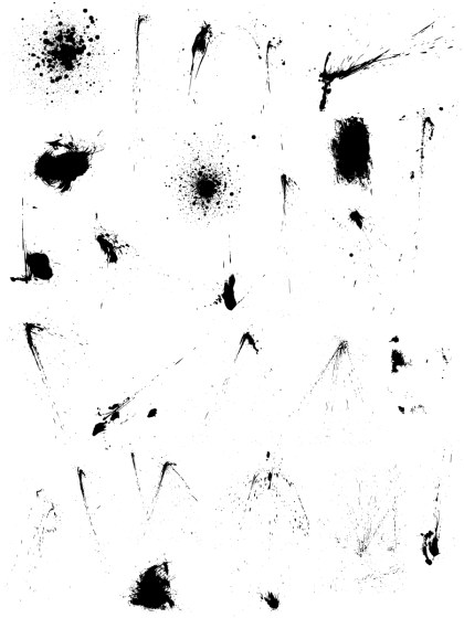 Spray Paint Splatter Vector and Photoshop Brush Pack-02
