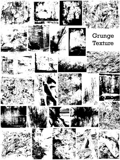 Grunge Texture Vector and Photoshop Brush Pack-04