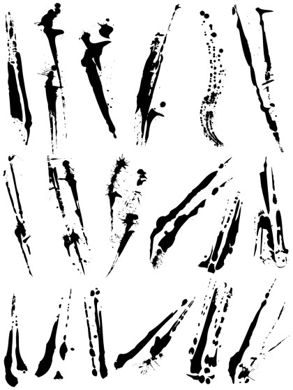 Paint Splatter Vector and Photoshop Brush Pack-02