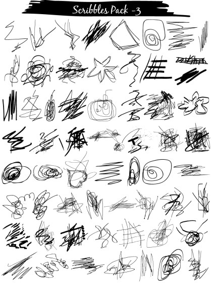 Scribble Vector and Photoshop Brush Pack-03