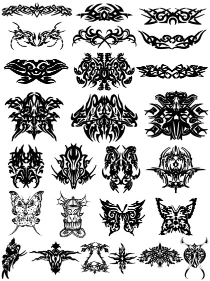 Tribal Tattoo Designs Vector and Photoshop Brush Pack-02