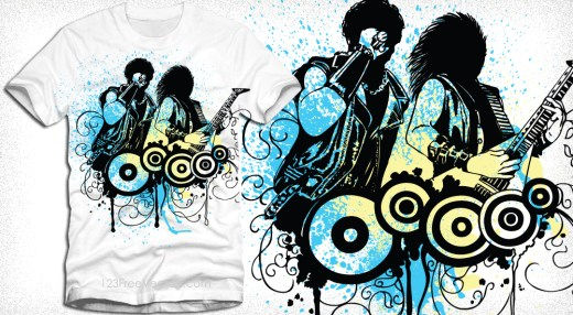 Rock Concert Vector T-Shirt Design