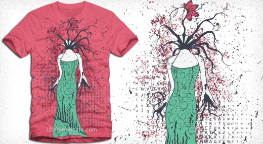 Tree Girl Apparel Vector T-Shirt Design