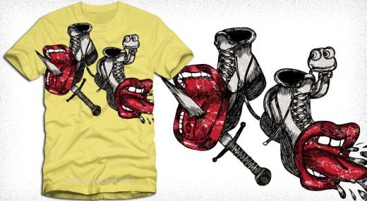 Cute Funny Cartoon Vector T-Shirt Design