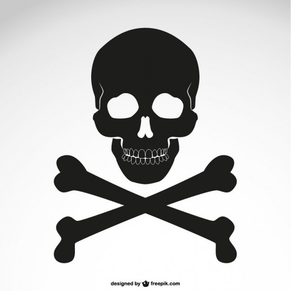 Crossed Bones Skull Icon Free Vector Available in png and svg formats. crossed bones skull icon free vector
