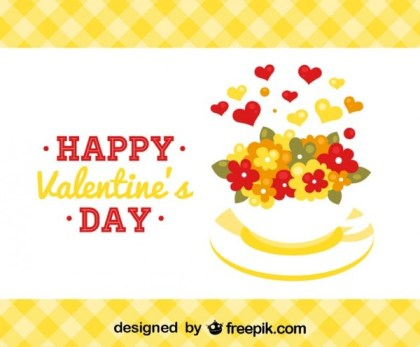 Happy Valentine Card Free Vector
