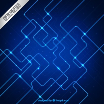 Hi-Tech Background in Blue Tones Free Vector