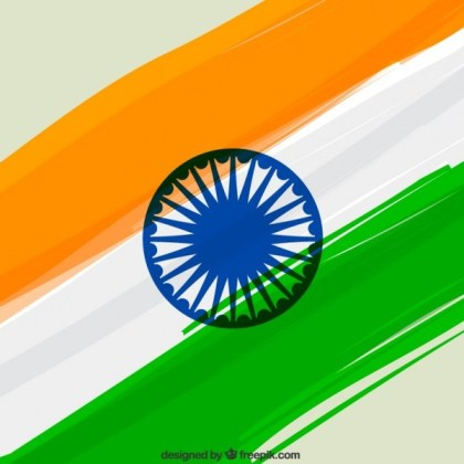 Indian Flag Background Free Vector