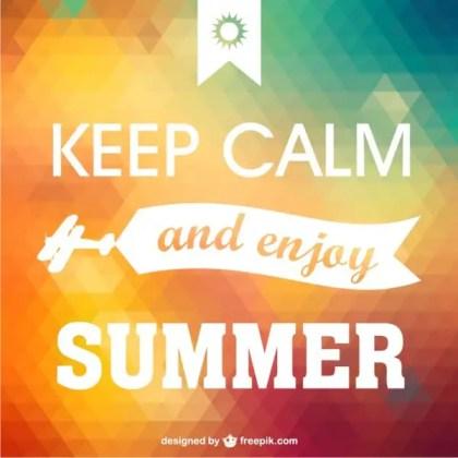 Keep Calm Enjoy Summer Poster Free Vector