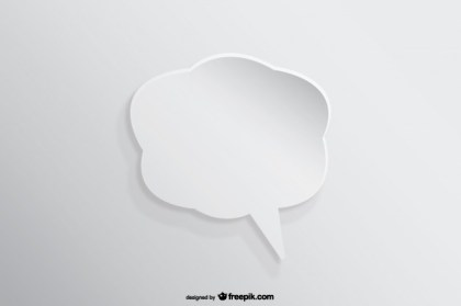 Speech Bubble Background Paper Cutout Effect Free Vector