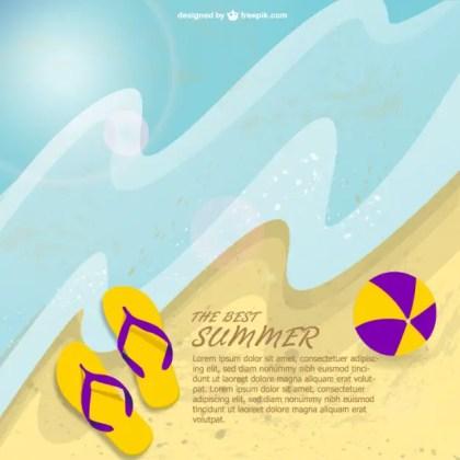 Summer Beach Free Free Vector