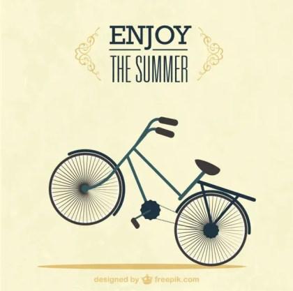 Summer Bike Ride Free Vector