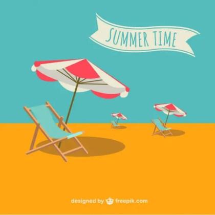 Summer Holiday Illustration Free Vector