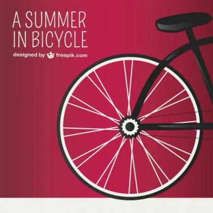 Summer Illustration Bicycle Design Free Vector