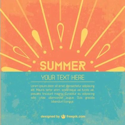 Summer Template Free Vector