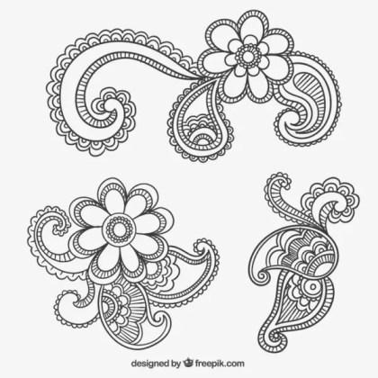 Paisley Ornaments Free Vectors
