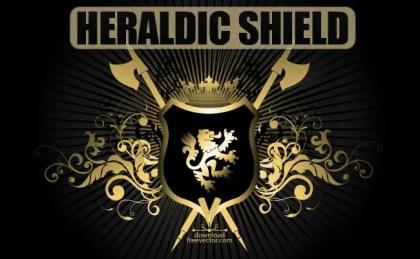 Heraldic Shield Free Vector