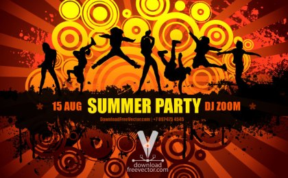 Summer Party Flyer Free Vector
