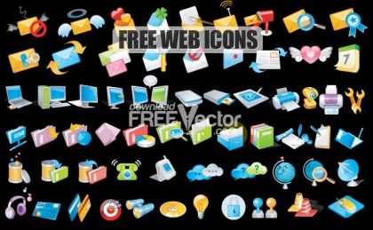 Web Icons Free Vector