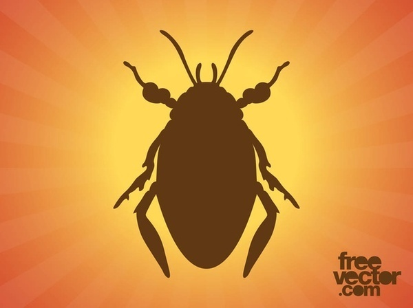 Beetle Silhouette Free Vector