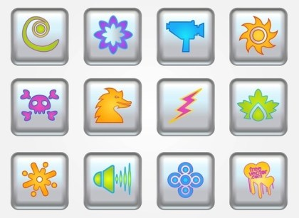 Buttons Icons Free Vector