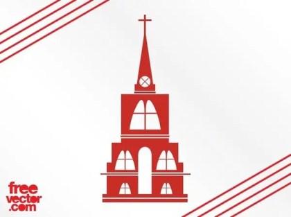 Christian Church Silhouette Free Vector
