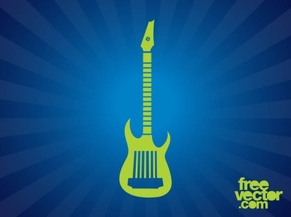 Electric Guitar Silhouette Free Vector