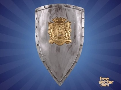 Heraldic Shield With Lions Free Vector