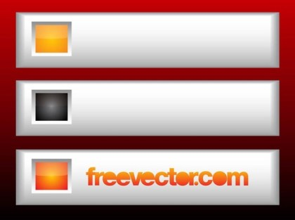 Metallic Web Buttons Free Vector